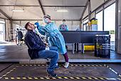 Corona test at Fomer us Airbase Soesterberg