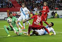 v.l. Torwart Yuri Lodygin, Wendell, Ezequiel Garay (Zenit)<br /> Fussball Champions League, Gruppenphase, Bayer 04 Leverkusen - Zenit St. Petersburg<br /> <br /> Norway only