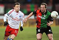 Fotball<br /> Tyskland<br /> Foto: Witters/Digitalsport<br /> NORWAY ONLY<br /> <br /> 18.02.2009<br /> <br /> v.l. Ivica Olic, Patrick Pothuizen NEC<br /> UEFA-Cup Zwischenrunde NEC Nijmegen - Hamburger SV 0:3