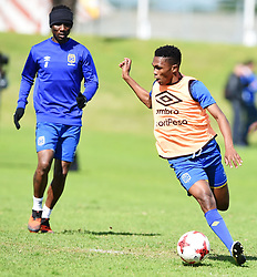Cape Town-180823- Cape Town City player Gift Links and Teko Modise at training preparing for their up comingMTN 8 semi-final against Sundowns at Cape Town Stadum.Photographer :Phando Jikelo/African News Agency/ANA