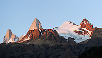 Patagonia Dawn from Hosteria El Pilar in El Chalten, Argentina. Image taken with a Nikon D3s and 70-300 mm VR lens (ISO 200, 82 mm, f/5.6, 1/80 sec).