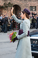 03.10.2017. Copenhagen, Denmark. <br /> Crown Princess Mary leaves the Danish Parliament at Christiansborg Palace in Copenhagen, Denmark.<br /> Photo: © Ricardo Ramirez