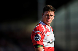 Gloucester Fly-Half (#10) Freddie Burns looks on during the second half of the match - Photo mandatory by-line: Rogan Thomson/JMP - Tel: Mobile: 07966 386802 - 03/10/2013 - SPORT - RUGBY UNION - Kingsholm Stadium, Gloucester - Gloucester Rugby v Exeter Chiefs - Aviva Premiership.