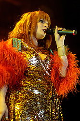 Ana Matronic of Scissor Sisters At Sheffield Hallam FM Arena .21 November 2006.Copyright Paul David Drabble
