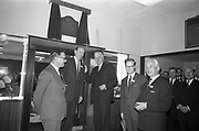 Official Opening of I.C.T.House..1963..01.10.1963..10.01.1963..1st October 1963..Dr James Ryan TD, Minister for Finance,officially opened I.C.T. House ,Adelaide Road, Dublin, for international Computers and Tabulators Ltd. The company had staff working in several sites around the city and the new premises will bring all of them together under the one roof...Image shows the assembled management and guests at the official opening of ICT House.
