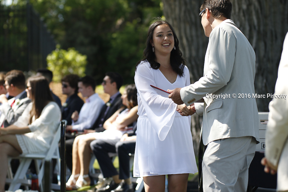 SHOT 6/2/16 9:36:29 AM - Colorado Academy Class of 2016 Commencement ceremonies at the Denver, Co. private school. The school graduated 88 seniors this year and the event capped a week filled with awards, tributes, and celebrations for the outgoing senior class. (Photo by Marc Piscotty / © 2016)