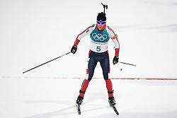February 12, 2018 - Pyeongchang, SOUTH KOREA - 180212  Erlend Bjøntegaard of Norway after the Men's Biathlon 12,5km Pursuit during day three of the 2018 Winter Olympics on February 12, 2018 in Pyeongchang..Photo: Jon Olav Nesvold / BILDBYRÃ…N / kod JE / 160157 (Credit Image: © Jon Olav Nesvold/Bildbyran via ZUMA Press)