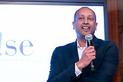 Sri Raju, Head of IT Management Governance at Sumitomo Mitsui Banking Corporation. W!SE 17th MoneyPOWER Institute for Financial Education on November 5, 2019.