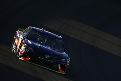 September 14, 2018 - Las Vegas, Nevada, United States of America - Denny Hamlin (11) brings his car through the turns during qualifying for the South Point 400 at Las Vegas Motor Speedway in Las Vegas, Nevada. (Credit Image: © Chris Owens Asp Inc/ASP via ZUMA Wire)