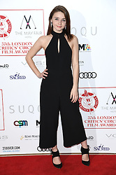 Jessica Barden arriving at the London Film Critics Circle Awards 2017, the May Fair Hotel, London.