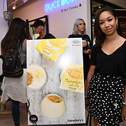 Anisah Audu @anisahldn attend the Oppo party to launch its new Madagascan Vanilla, Sicilian Lemon and Raspberry Cheesecakes, served with Skinny Prosecco at Farm Girls Café, 1 Carnaby Street, Soho, London, UK on July 18 2018.