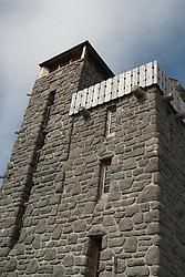 Stone Tower on Summit of Mt. Constitution, Orcas Island, San Juan Islands, Washington, US