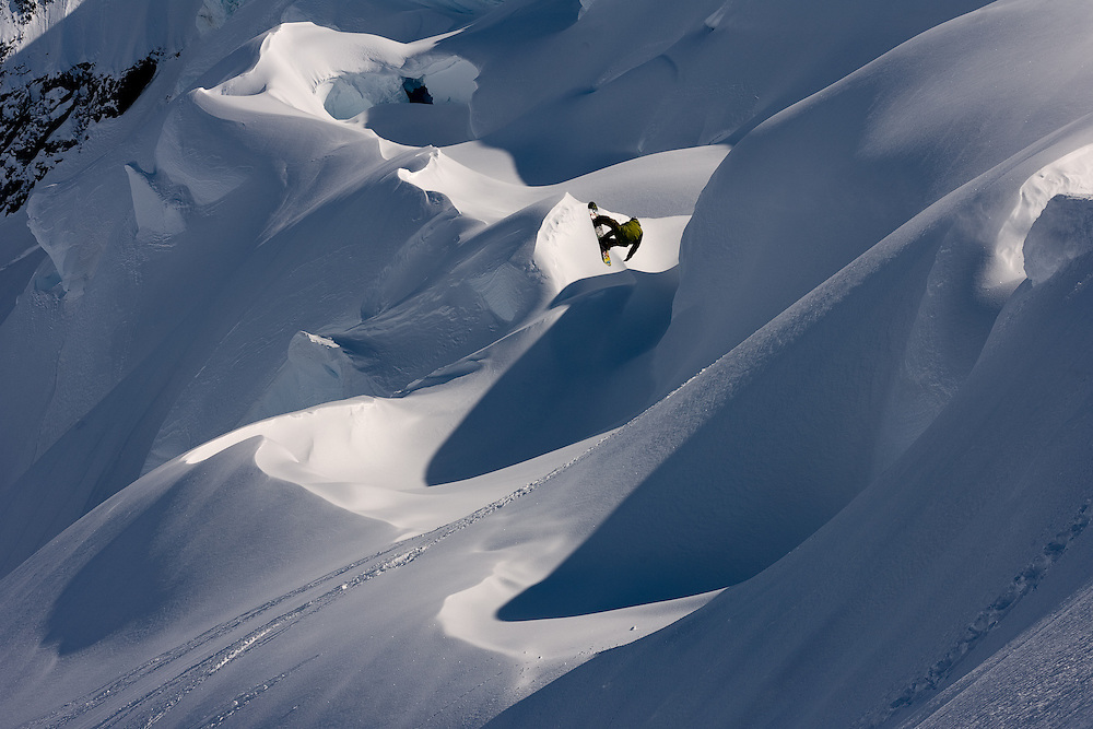 Travis Rice, post 10 day storm, during the Deeper expedition to Glacier Bay National Park, AK.