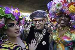 June 18, 2017 - Acontece agora na Avenida Paulista a 21ª Parada do Orgulho LGBT. Com o tema ''Independente de nossas crenças, nenhuma religião é lei! Todas e todos por um estado laico.'' a parada conta com 19 trios e diversas atrações. Neste domingo (18), na Avenida Paulista. (Credit Image: © Bruno Rocha/Fotoarena via ZUMA Press)