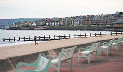 Portobello, Edinburgh, Scotland, UK. 5 April, 2020.  Images of Portobello promenade on the second Sunday of the coronavirus lockdown in the UK.