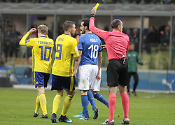 November 13, 2017 - Milan, Italy - Marcus Berg during the playoff match for qualifying for the Football World Cup 2018  between Italia v Svezia, in Milan, on November 13, 2017. (Credit Image: © Loris Roselli/NurPhoto via ZUMA Press)