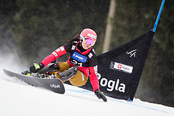 Cheyenne Loch (GER) competes during Qualification Run of Women's Parallel Giant Slalom at FIS Snowboard World Cup Rogla 2016, on January 23, 2016 in Course Jasa, Rogla, Slovenia. Photo by Ziga Zupan / Sportida