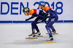 12-01-2018 DUI: ISU European Short Track Championships 2018 day 1, Dresden<br /> Dylan Hoogerwerf NED #18, Dennis Visser NED #69