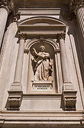 Architectural detail of the Chiesa San Rocco in Venice, Italy