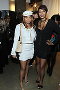 """NEW YORK, NEW YORK-FEBRUARY 13: (L-R) Laylah Kelly and Designer Aisha McShaw attend """" CAPTURED"""" the Fall/Winter Collection 2019 presented by Designer Aisha McShaw during New York Fashion Week and held at the Gallery at Prince George Ballroom on February 11, 2019 in New York City.  (Photo by Terrence Jennings/terrencejennings.com)"""