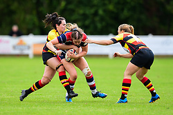 Amelia Buckland-Hurry of Bristol Ladies is tackled by Becky Ball of Richmond ladies - Mandatory by-line: Craig Thomas/JMP - 17/09/2017 - Rugby - Cleve Rugby Ground  - Bristol, England - Bristol Ladies  v Richmond Ladies - Women's Premier 15s
