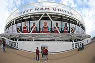 a General view of the London Stadium as fans arrive before k/o .UEFA Europa league, 3rd qualifying round match, 2nd leg, West Ham Utd v NK Domzale at the London Stadium, Queen Elizabeth Olympic Park in London on Thursday 4th August 2016.<br /> pic by John Patrick Fletcher, Andrew Orchard sports photography.