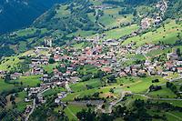 IFTE-NB-007369; Niall Benvie; Fliess; Austria; Europe; Tirol; Fliesser Sonnenhänge; horizontal; below above; red green; village town rural urban upland; 2008; july; summer; Wild Wonders of Europe Naturpark Kaunergrat