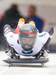 19.02.2016, Olympiaeisbahn Igls, Innsbruck, AUT, FIBT WM, Bob und Skeleton, Damen, Skeleton, 1. Lauf, im Bild Janine Flock (AUT) // Janine Flock of Austria competes during women Skeleton 1st run of FIBT Bobsleigh and Skeleton World Championships at the Olympiaeisbahn Igls in Innsbruck, Austria on 2016/02/19. EXPA Pictures © 2016, PhotoCredit: EXPA/ Johann Groder