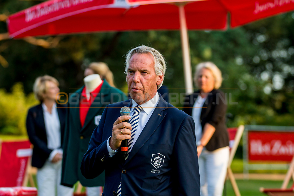 20-07-2019 Pictures of the final day of the Zwitserleven Dutch Junior Open at the Toxandria Golf Club in The Netherlands.<br /> Mark van Langeveld, president Dutch Junior Open