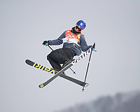 18th February 2018, Pyeongchang, South Korea; 2018 Winter Olympic Games Olympische Spiele Olympia OS Day 9; Phoenix Snow Centre; Øystein Bråten (NOR) performs an aerial trick during Qualification in Mens Ski Slopestyle PUBLICATIONxINxGERxSUIxAUTxHUNxSWExNORxDENxFINxONLY