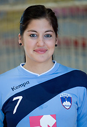 Portrait of Maja Son of Slovenian Handball Women National Team, on June 3, 2009, in Arena Kodeljevo, Ljubljana, Slovenia. (Photo by Vid Ponikvar / Sportida)