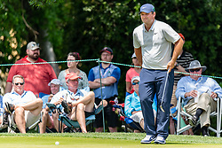 May 4, 2019 - Charlotte, NC, U.S. - CHARLOTTE, NC - MAY 04: Patrick Reed looks over his putt on the 3rd green during the third round of the Wells Fargo Championship at Quail Hollow on May 4, 2019 in Charlotte, NC. (Photo by William Howard/Icon Sportswire) (Credit Image: © William Howard/Icon SMI via ZUMA Press)