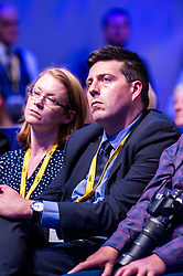 Pictured: Jamie Hepburn, MSP, Minister for Employability and Training <br /> The members of the SNP gathered in the Scottish Events Centre in Glasgow for their annual conference.<br /> <br /> Ger Harley | EEm 8 October 2017
