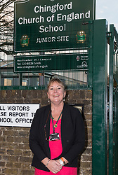 72 POINT. Breakfast club attendees at Chingford Church of England junior School enjoy breakfast and fun and games before school. PICTURED: Head Teacher Ms Lampard Chingford, London, November 06 2018.