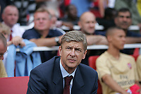 Photo: Lee Earle.<br /> Arsenal v Paris Saint-Germain. The Emirates Cup. 28/07/2007.Arsenal manager Arsene Wenger.