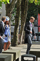 HRH PRINCE WILLIAM and KATE MIDDLETON at the wedding of Nicholas Van Cutsem to Alice Hadden-Paton at The Guards Chapel, Wellington Barracks, London on 14th August 2009.