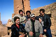 Rachid Baba, Chaba Fadela, Khaled and Cheb Sahraoui in the studio-  Tlemcen Algeria