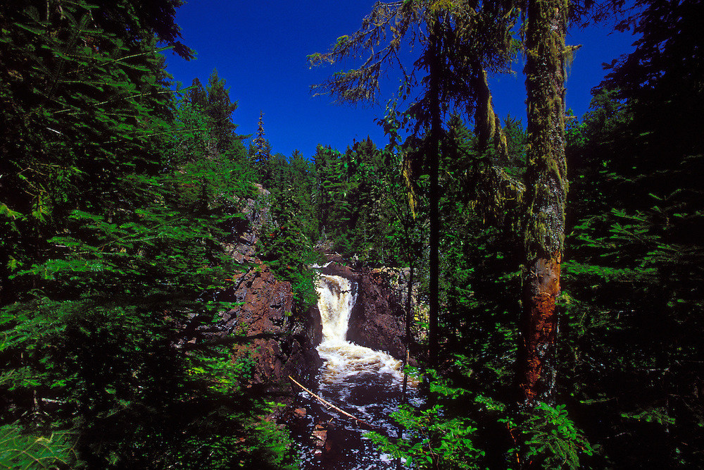 Upper Falls on the Montreal River near Lac LaBelle Michigan on the Keweenaw Peninsula.