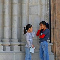South America, Ecuador, Quito. Local Ecuadorians of Quito.