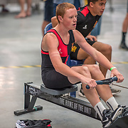 Race 20 500mtr U16 <br /> <br /> www.rowingcelebration.com Competing on Concept 2 ergometers at the 2018 NZ Indoor Rowing Championships. Avanti Drome, Cambridge,  Saturday 24 November 2018 © Copyright photo Steve McArthur / @RowingCelebration