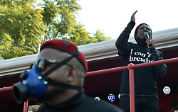 South Africa - Coronavirus - Pretoria - 08 June 2020 - EFF Leader Julius Malema leads the #BlackLivesMatter protest outside the US embassy.<br /> Picture: Oupa Mokoena/African News Agency (ANA)
