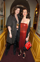 Left to right, CAITLIN MAVROLEON and MARIA-ATHENA PAPATHANASIOU at a dinner hosted by Stratis & Maria Hatzistefanis at Annabel's, Berkeley Square, London on 24th March 2006 following the christening of their son earlier in the day.<br /><br />NON EXCLUSIVE - WORLD RIGHTS