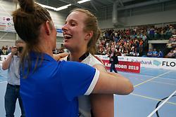 20190424 NED: Sliedrecht Sport - VC Sneek: Sliedrecht<br /> Sliedrecht Sport Nederlands Kampioen Volleybal Seizoen 2018 - 2019 Esther Hullegie (3) of Sliedrecht Sport <br /> ©2019-FotoHoogendoorn.nl / Pim Waslander