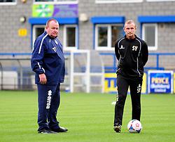 Tom Foley and Steve Yates - Photo mandatory by-line: Neil Brookman/JMP - Mobile: 07966 386802 - 01/11/2014 - SPORT - Football - Telford - New Bucks Head Stadium - AFC Telford v Bristol Rovers - Vanarama Football Conference