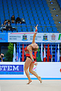 Olsson Elsie Josefin during qualifying at hoop in Pesaro World Cup at Adriatic Arena on 10 April 2015. Josefin was born on March 4, 1998 in Landskrona. She is an Swedish individual rhythmic gymnast.