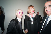 ANTHONY FAWCETT; GRAYSON PERRY, Gala Opening of RA Now. Royal Academy of Arts,  8 October 2012.