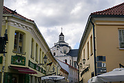 Old building in the old town of Vilnius Lithuania