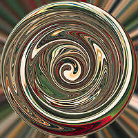 Digital art created from manipulation of an original photograph