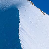 ANTARCTICA, Queen Maud Mountains, Mountaineers climb ridge on Mt. Vaughan.