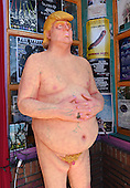 Naked Trump Statue in Hollywood